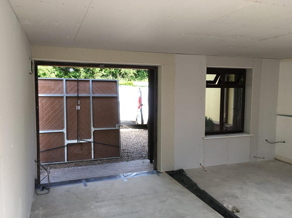 building work - garage conversion Redgrave