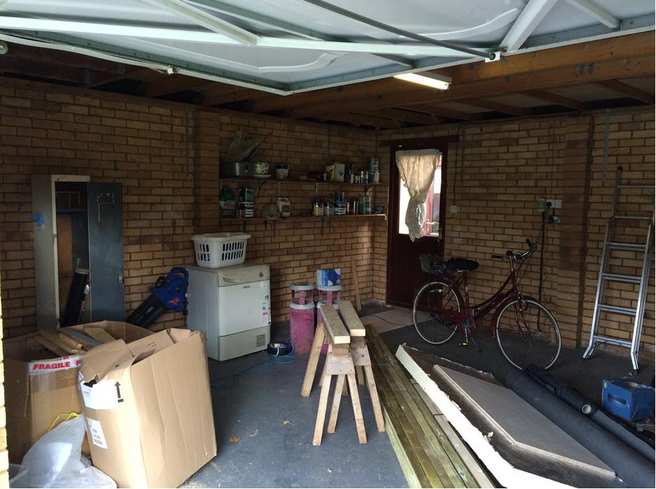portfolio garage conversion begins Stowmarket