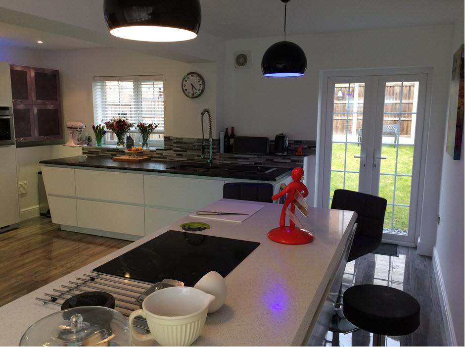 garage converted to kitchen, Stowmarket