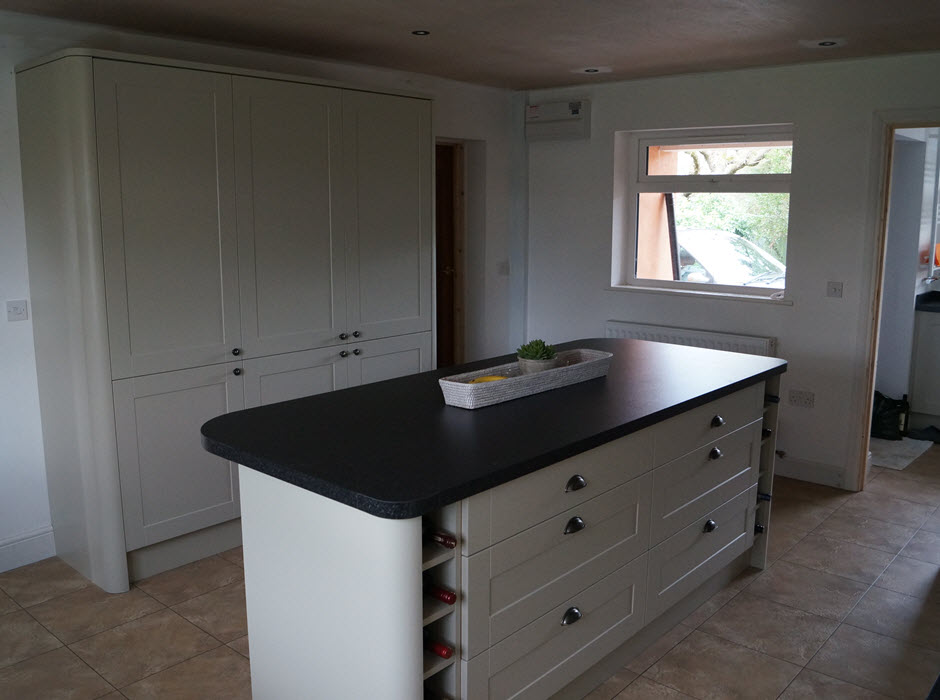 Fitted kitchen in home extension, Rickinghall