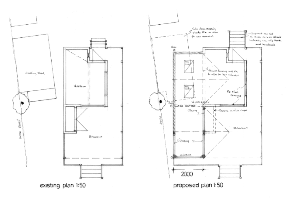 plans for extension to summer house, Stowmarket
